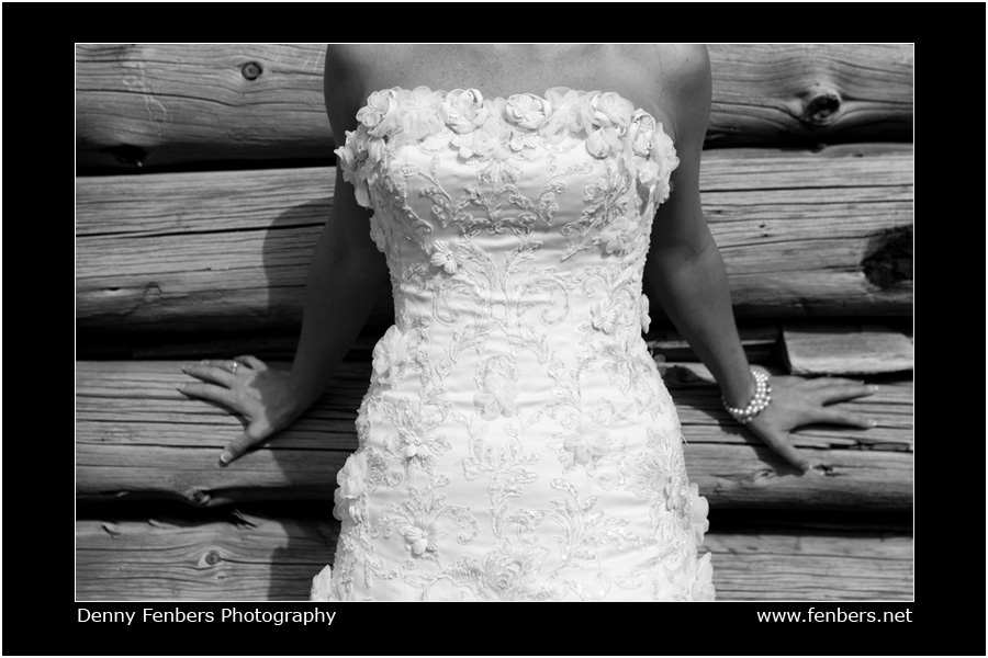 Showing off the dress - Vail Valley Wedding Portrait