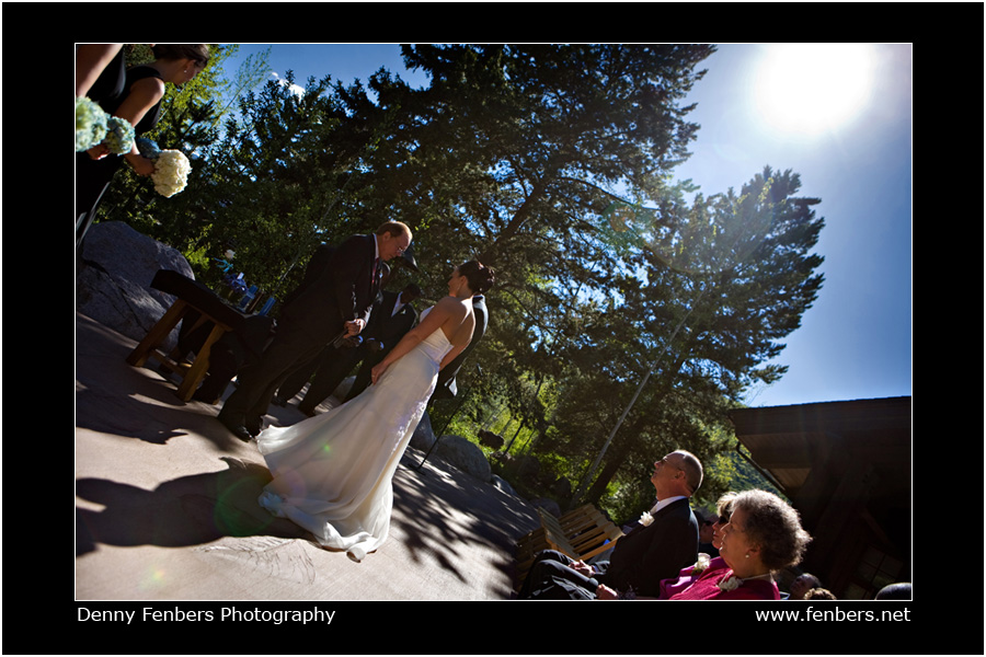 Ceremony on the Donovan patio