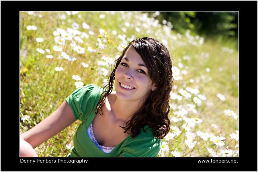 Senior Portrait in Flowers