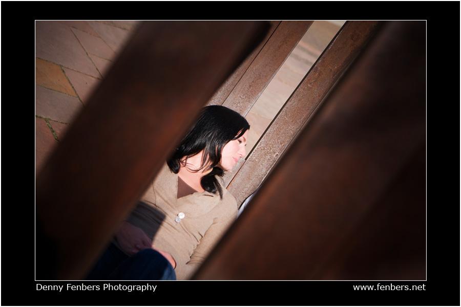 Engagement Portrait Shot through Art