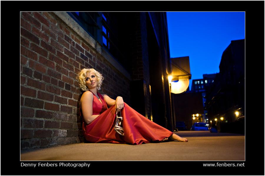 Casual night portrait in Denver