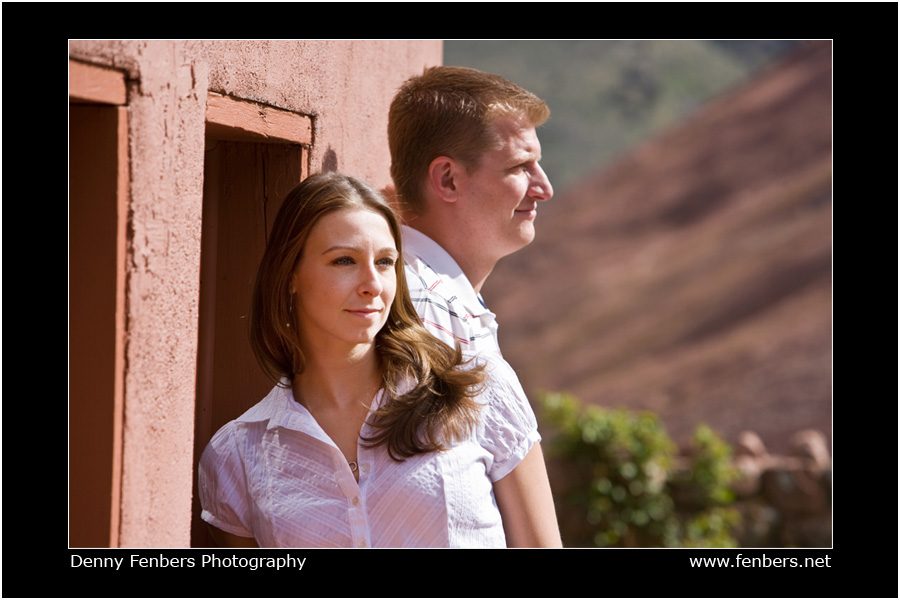 An Engagement Portrait at Red Rocks