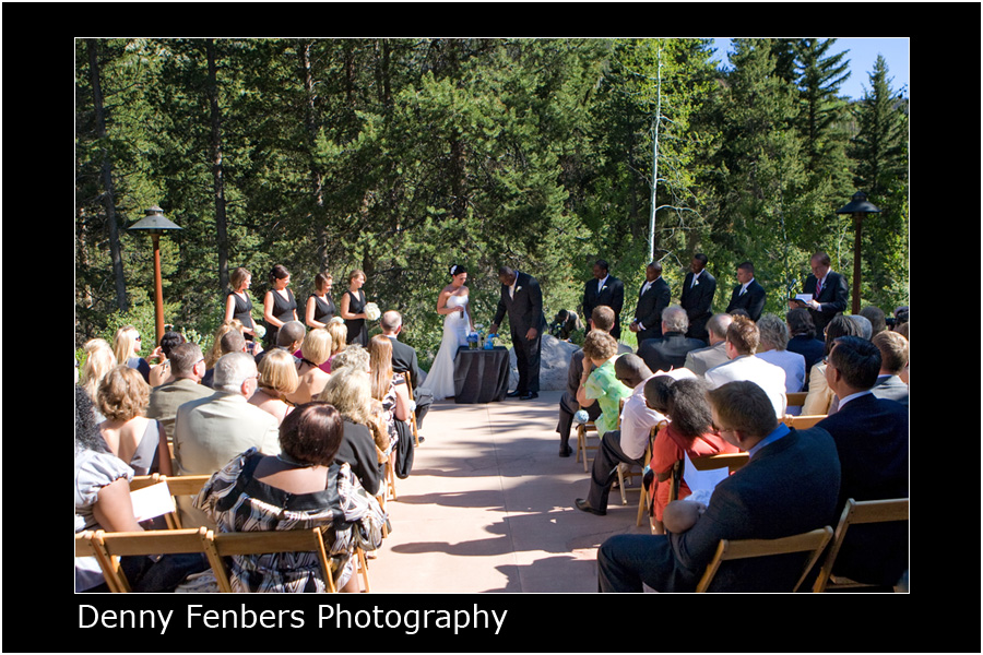 Ceremony on the Donovan patio - wide view