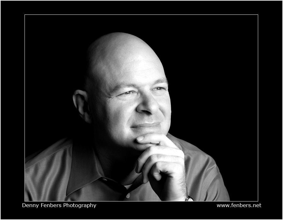 Black and White Studio Head Shot